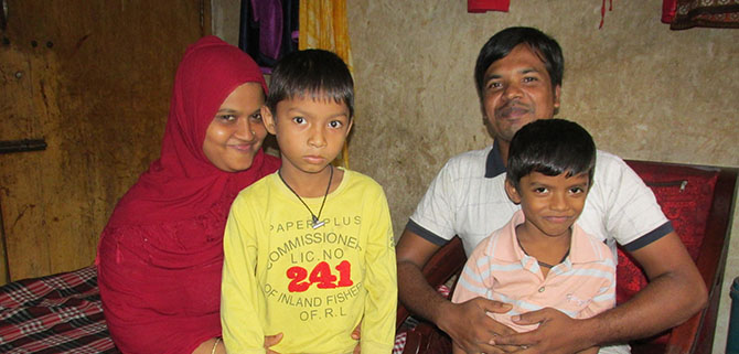 Hosain and his family
