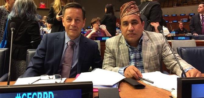 Brent Morgan and Amar Tamalsina at the United Nations