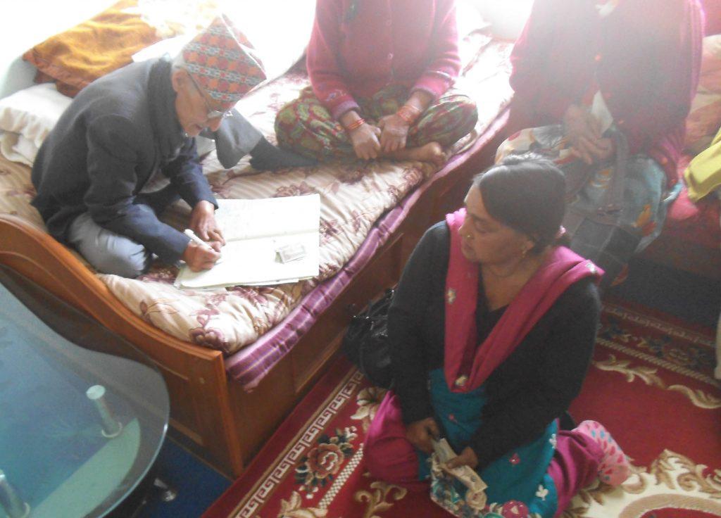 Basider Dhal (SHG Treasurer), Manju (SHG Chair Person)