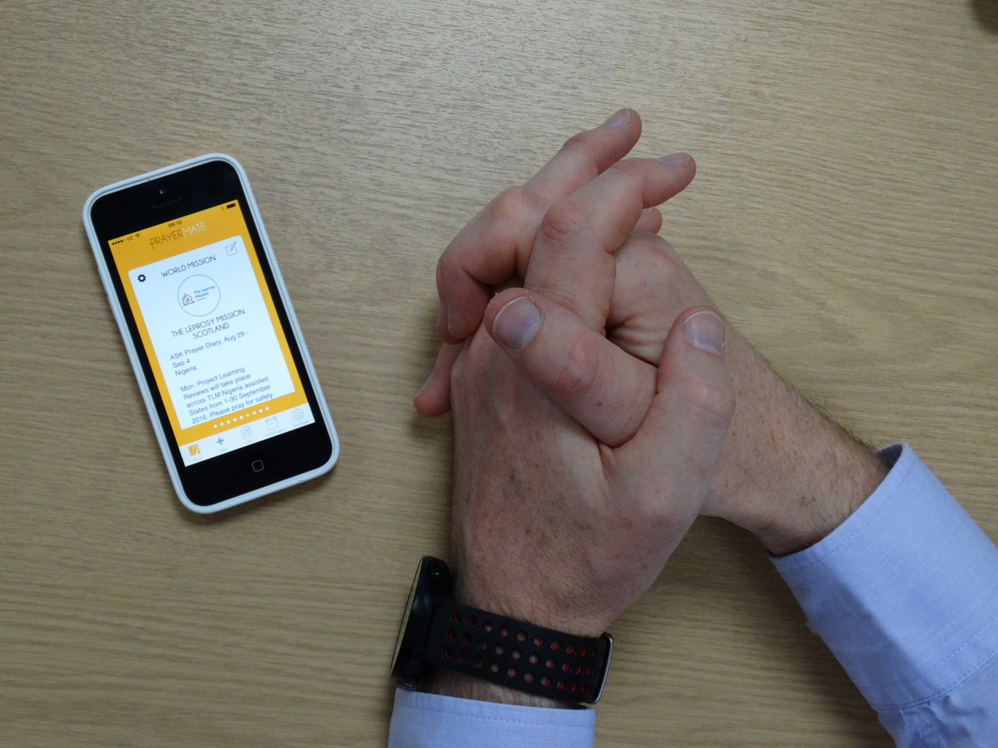 Praying with PrayerMate App